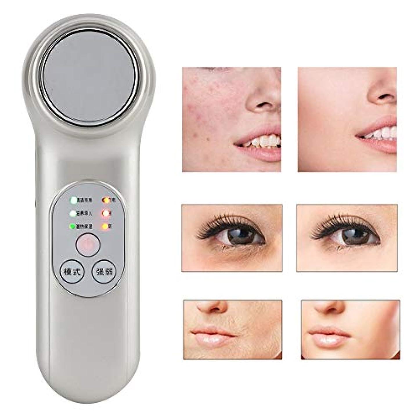 リテラシー認可勇気のある手持ち型の顔のマッサージャーの美装置、気孔の洗剤の皮の若返り機械