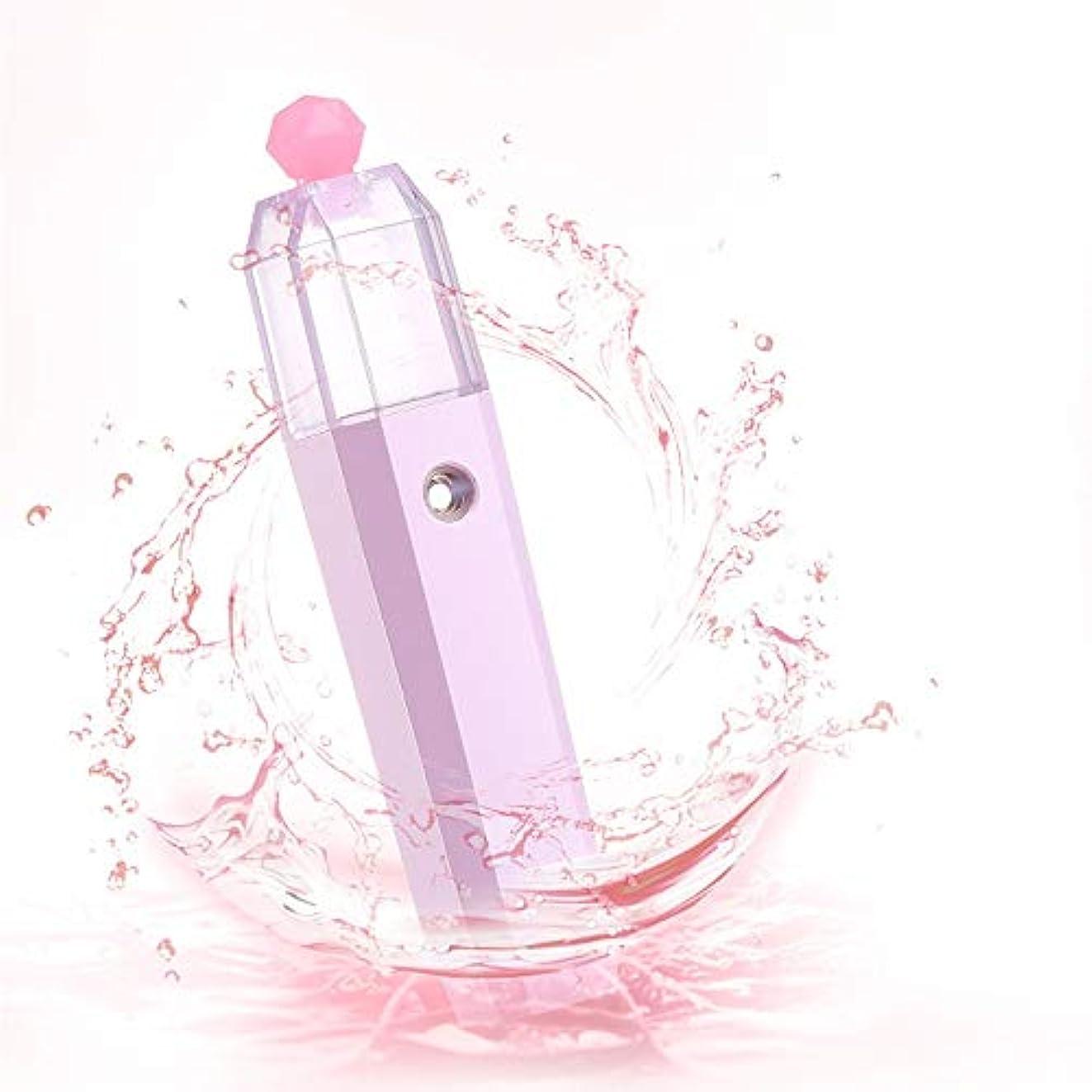任意カウンターパートシェフZXF 水道メーター美容ハンドスプレー新しいナノスプレーポータブル家庭用フェイスフェイシャルモイスチャライザーピンク 滑らかである