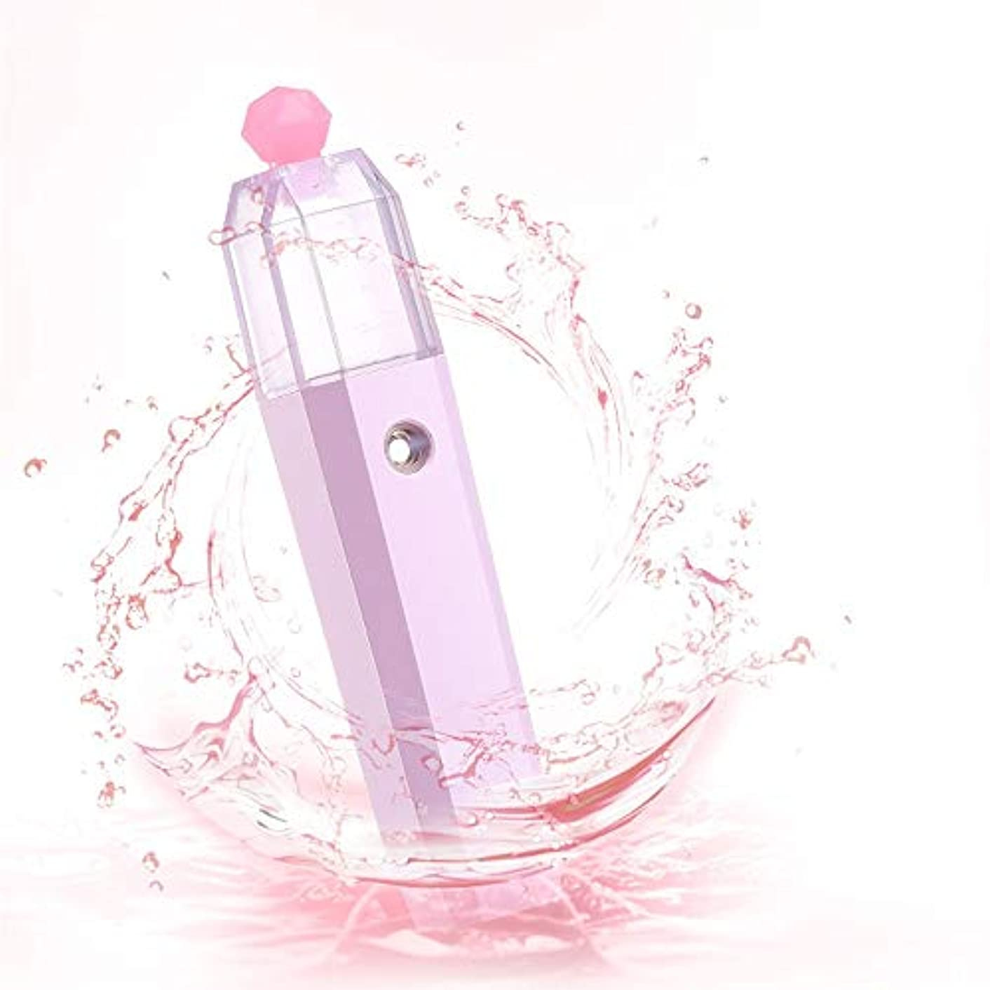 ところで休戦コメントZXF 水道メーター美容ハンドスプレー新しいナノスプレーポータブル家庭用フェイスフェイシャルモイスチャライザーピンク 滑らかである
