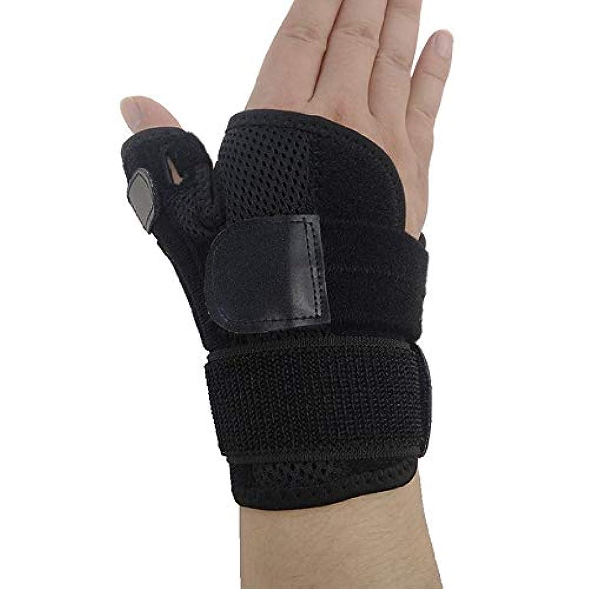 礼拝疑わしいあいまいさZYL-YL ブレーサー親指脊椎骨折母の手の固定具手首Heelingsスチールバーのサポートハンドスプリント (Edition : Right)