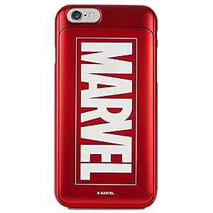iPhone6/iPhone6S マーベル MARVEL i-Slide GLOW (レッド) アイスライド CARD CASE カード収納 skinplayer 4.7 (Red/レッド)