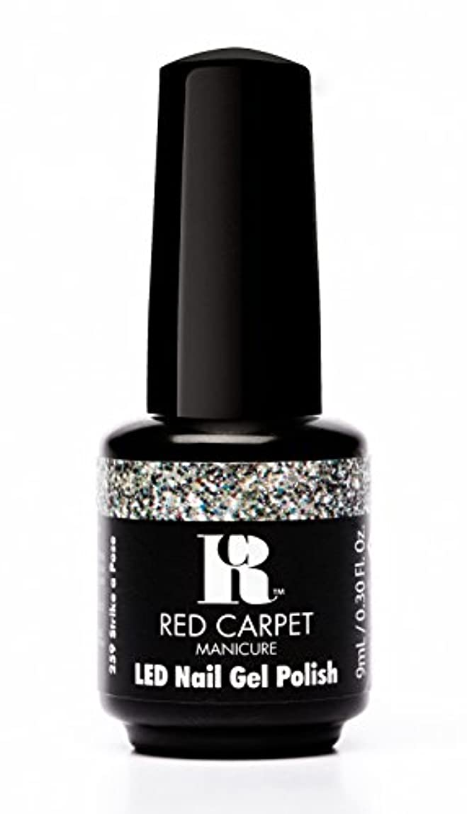 マンモス過ち救いRed Carpet Manicure - LED Nail Gel Polish - Trendz - Strike A Pose - 0.3oz / 9ml