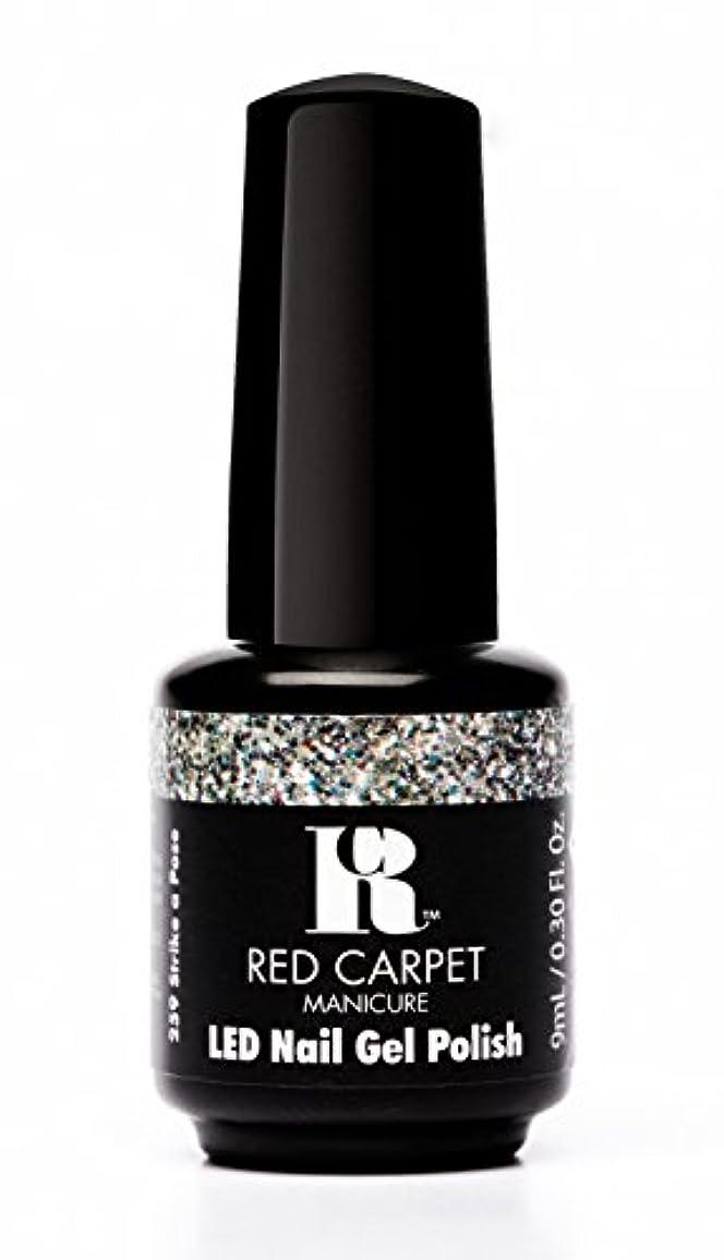 原子炉以前は優れたRed Carpet Manicure - LED Nail Gel Polish - Trendz - Strike A Pose - 0.3oz / 9ml
