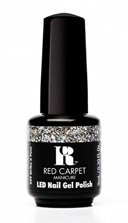 政府エクステント学者Red Carpet Manicure - LED Nail Gel Polish - Trendz - Strike A Pose - 0.3oz / 9ml