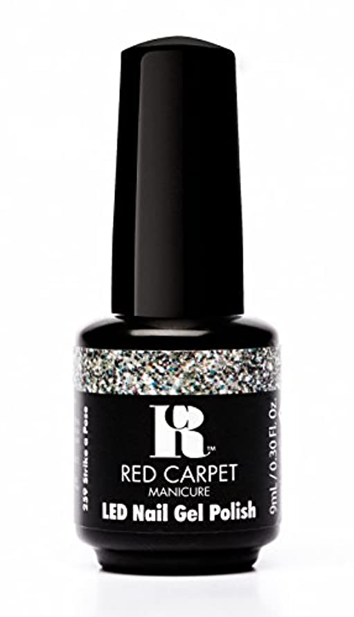弁護望ましいポンドRed Carpet Manicure - LED Nail Gel Polish - Trendz - Strike A Pose - 0.3oz / 9ml