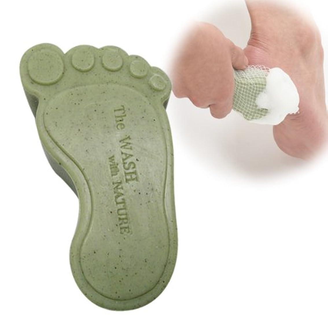 顎条件付きからかう石けん せっけん ひび割れ予防 かかと ヨモギで足裏美人 ヨモフットソープ
