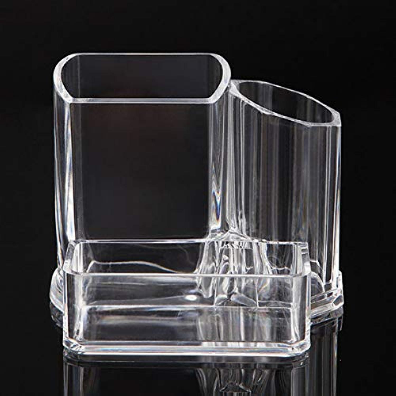 Saikogoods 耐久性のある透明クリアアクリルジュエリー&化粧品のヒントほこりのない綿芽収納ボックスディスプレイケース
