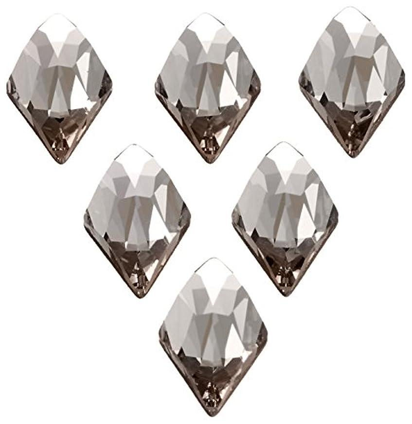 社会科拡声器スライスネイルアートパーツ ランバスカット ブラックダイヤモンド 6.0×10.0mm 6P