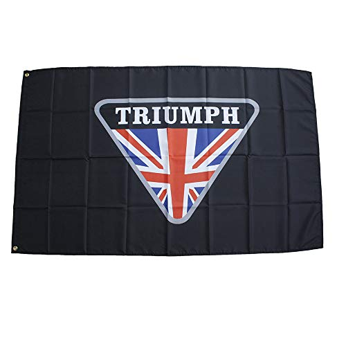TRIUMPH トライアンフモーターサイクルバイク90cm*150cm フラッグ 特大旗 バナー 旗看板 大判サイズ 大型モータースポーツ(TRIUMPH)