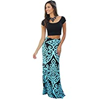 Joansam Tendril Printed Maxi Skirt