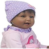 Sannysis キッズ カット ノベルティ おもちゃ リボーン 幼児 ベビードール 人工ガール 22インチ ビニール シリコーン 生きているようなおもちゃ