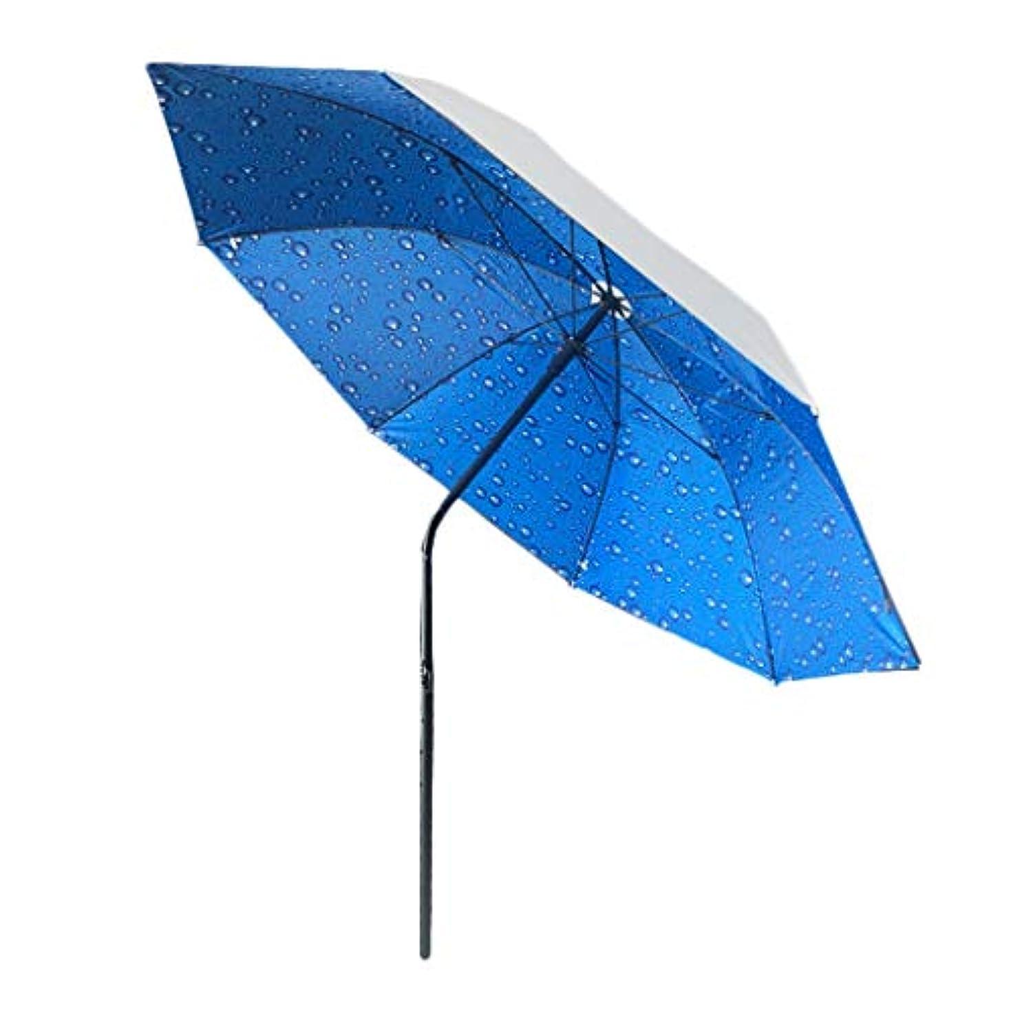 両方弾性予言する太陽傘金属オックスフォード回転日焼け止め雨折りたたみ傘屋外サンシェード傘 (Size : H1.9m)