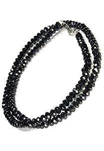 煌びやかな黒の輝きを存分にお楽しみ頂ける、最高級のブラックスピネルネックレスです。 スピネルは繊細なダイヤモンドカットを施した、高品質な大粒5mmのものを使用! 安価で販売されているネックレスと違い、粒一つ一つの大きさが綺麗にそろっており、魅力的な輝きを存分に引き出したブラックスピネルです。  様々なファッション・シーンで活躍し、男女共に楽しめるオシャレなネックレス♪ 長さは40cmと45cmと50cmの3サイズからお選び頂けます。  『ブラックスピネル』は鉄分を多く含み、艶のある黒色と煌びやか...