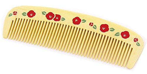 日本製 静電気防止 携帯便利 美髪女子に愛用されたお洒落な和柄 本つげ櫛(丸椿)