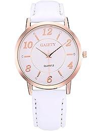 Rockyu ブランド 腕時計 カップル ペアウォッチ オシャレ サファイアガラス 海外ブランド ホワイト ベルト 時計