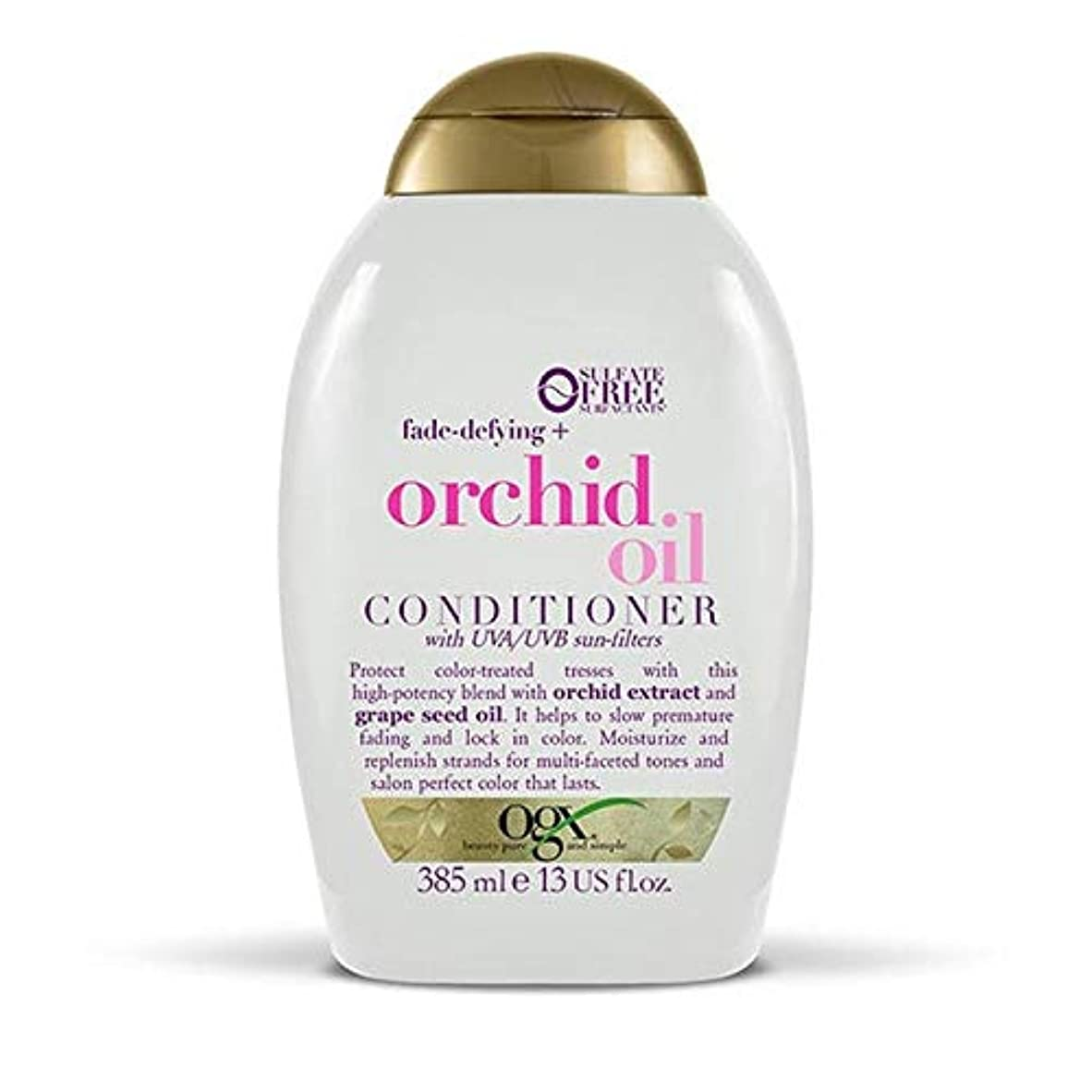 パッドパースコレクション[Ogx] Ogxフェードディファイング+蘭オイルコンディショナー385ミリリットル - OGX Fade-Defying + Orchid Oil Conditioner 385ml [並行輸入品]