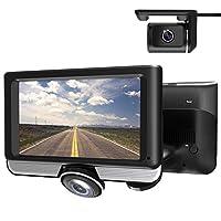 LUU 360度全方位記録ドライブレコーダー 前後2カメラ 4.5インチタッチパネル 1080PフルHD撮影 300万画素高画質 地デジ電波干渉対策済 暗視機能 Gセンサー エンジン連動 駐車監視 常時・ループ録画