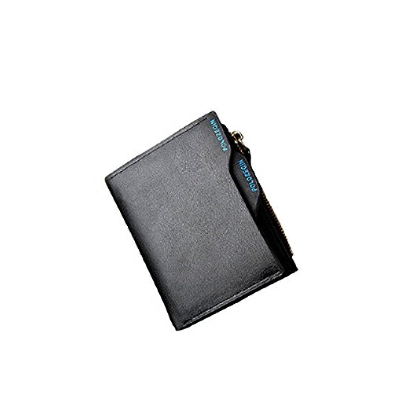 Karchi メンズ 二つ折り財布 本革 レジャー 短財布 POLOZEQIN ブランド 高級 実用 ウォレット 気質UP 流行 おしゃれ カード入れ 小銭入れ 紳士用