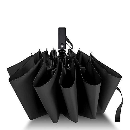 Otoku 折りたたみ傘 自動開閉 頑丈な12本骨 大きい メンズ傘 Teflon加工 超撥水 210T高強度グラスファイバー 耐強風 傘ケース付き