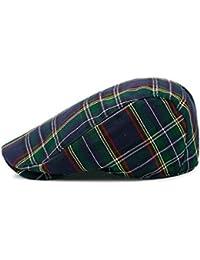 NUBAO ベレーズチェック帽子サンハットサンハット前方キャップレトロキャップ (色 : Blue)