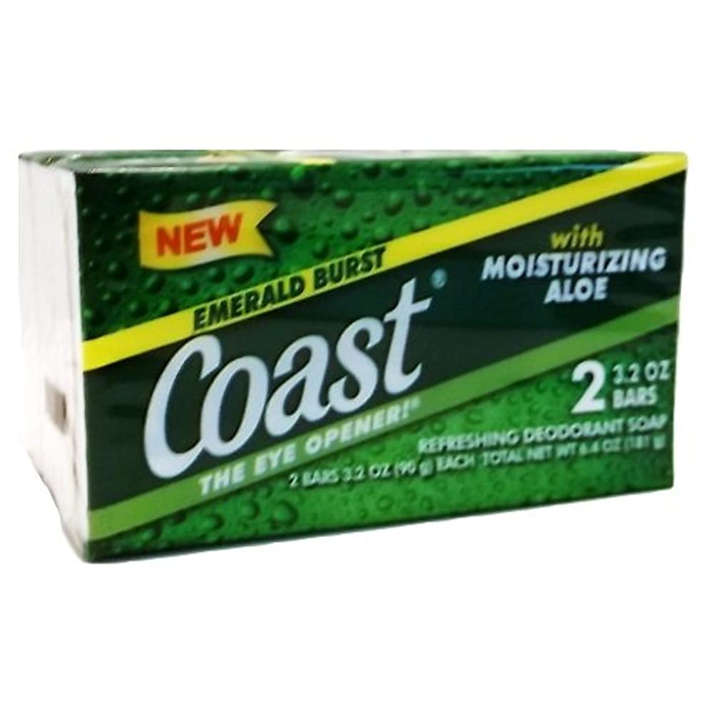 ツーリスト飢えた池コースト(Coast) 石けんエメラルドバースト2個入り×24パック(48個)