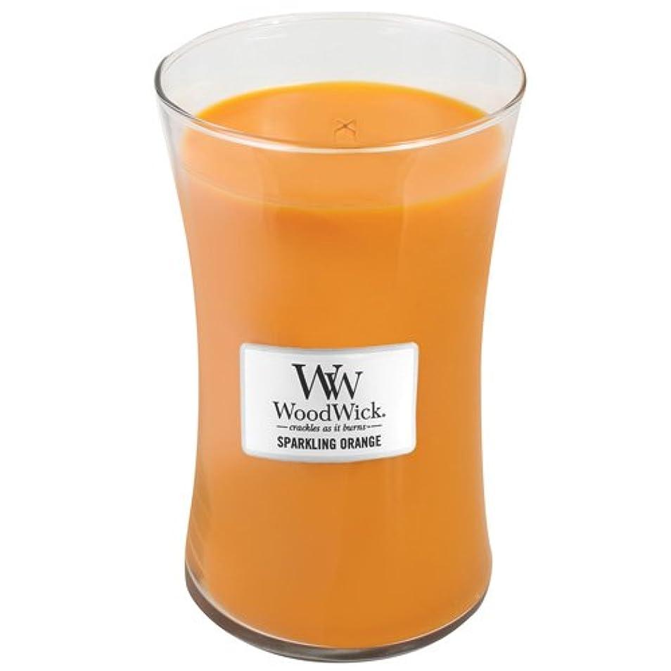 経済エゴイズム外出WoodWick Sparkling Orange Large Jar Scented Candle