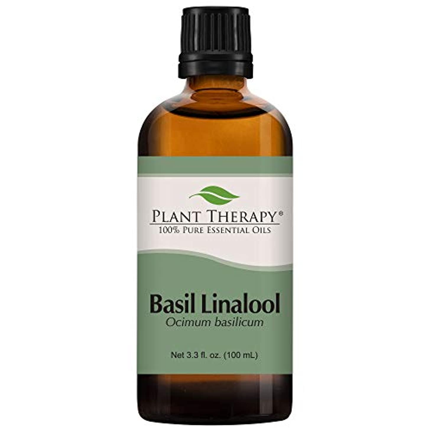 神同盟口述するBasil (linalool CT) Essential Oil 100 ml 100% Pure, Undiluted.