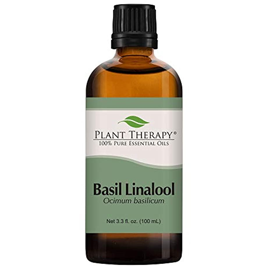 残り物愚かな好意的Basil (linalool CT) Essential Oil 100 ml 100% Pure, Undiluted.