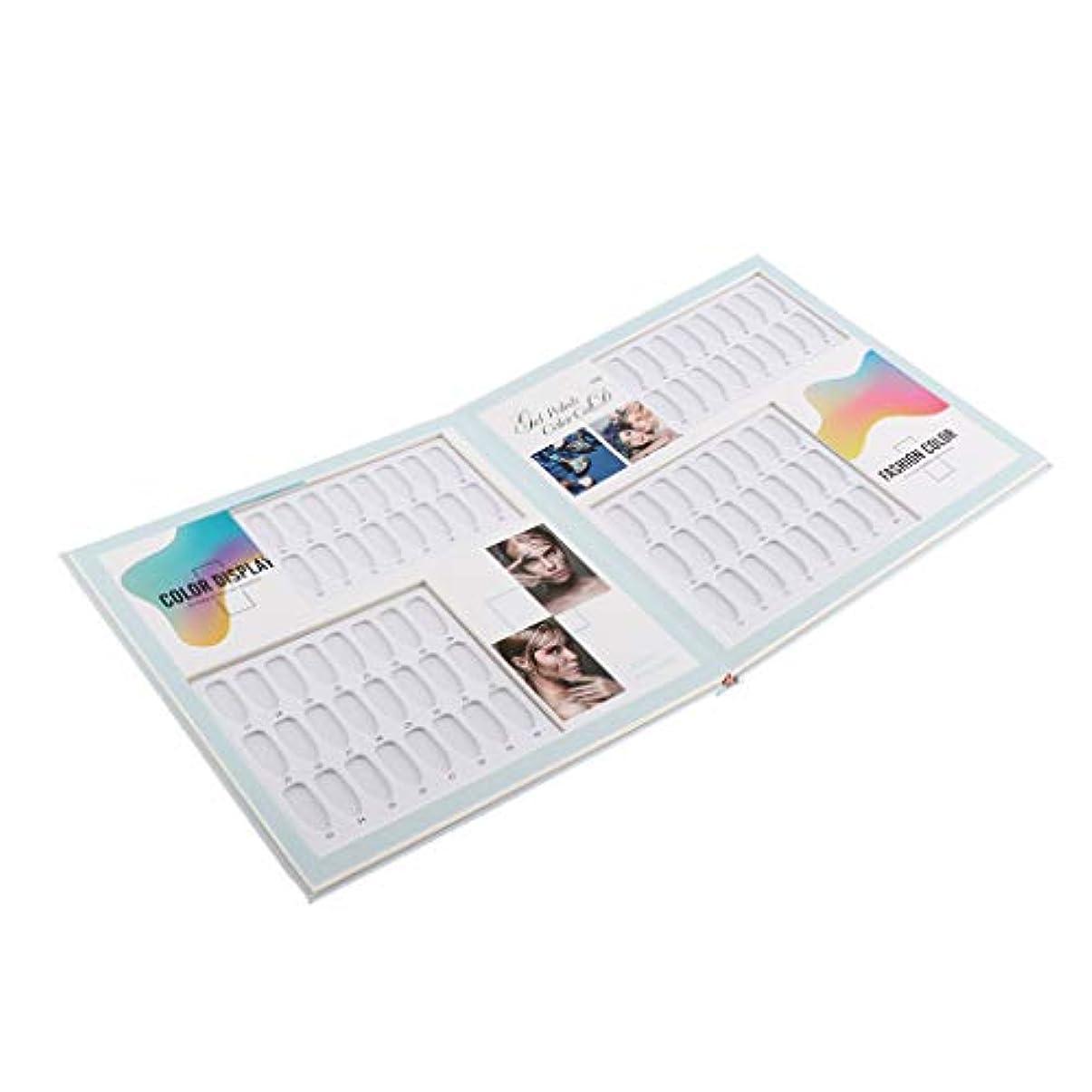 花弁むしゃむしゃ小包ネイルカラーガイド ネイルアート マニキュア色見本 ネイルカラーカードブック ネイルディスプレイ 全3種 - 01