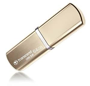 Transcend USBメモリ 64GB USB 3.0 キャップ式 ゴールド (無期限保証) TS64GJF820G