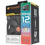 Thermaltake Riing 12 - 256Color LED 3Pack LEDケースファン FN969 CL-F042-PL12SW-B