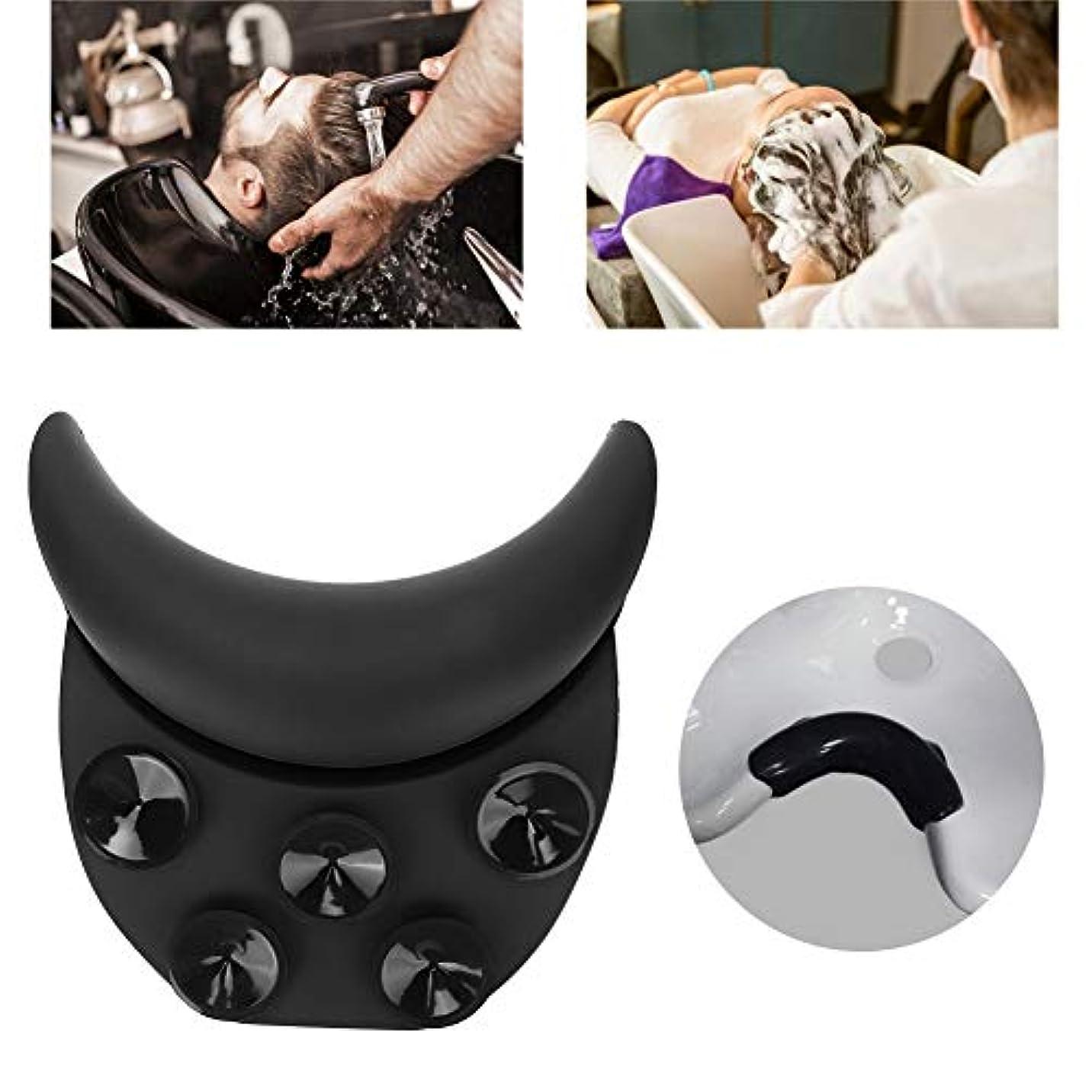 仲間蜂グッゲンハイム美術館ソフト シリコンカーブ枕 シャンプーベッド ネックレスト 髪洗浄枕理髪ツール