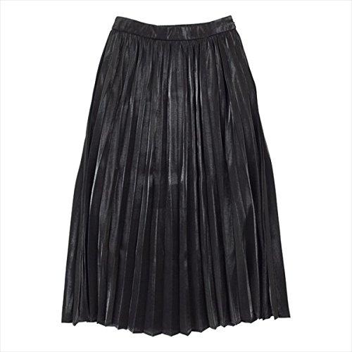 ティティベイト(titivate) フィラメントサテンミディアムプリーツスカート【ブラック/M】