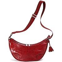 アニアリ ショルダーバッグ 型押しクロコダイル バルケッタ S Double Embossed Leather 12-03000 Red