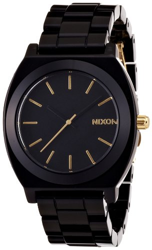 TIME TELLER ACETATE ALL BLACK/GOLD NA3271031-00 レディース ニクソン