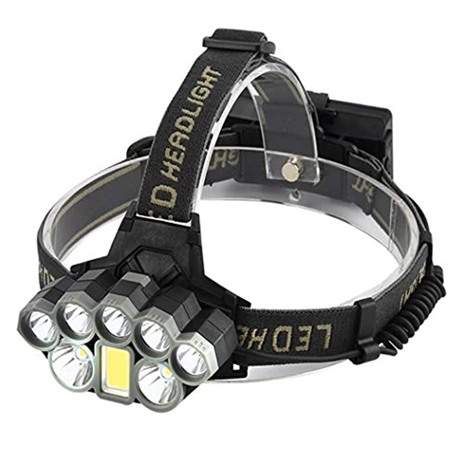 上級居住者追い払うHSBAIS ヘッドライト ヘルメットライト LED、登山 り キャンプに対する警告赤色ライトが 防水 USB 充電式 高輝度 軽量 ヘッドランプ,black