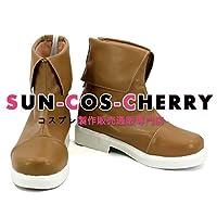 【サイズ選択可】コスプレ靴 ブーツ K-2065 アルスラーン戦記 アルスラーン 女性23.5CM