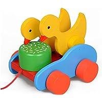 goodsceneクリエイティブpull-along Toy Cartoon Snails Pull Along幼児用おもちゃ木製教育玩具(グリーン)