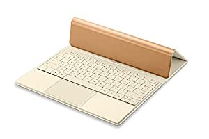 Huawei 純正 Matebook用 Portfolio Keyboard ブラウン 5点マルチタッチ対応トラックパッド 防滴 02452066 【日本正規代理店品】