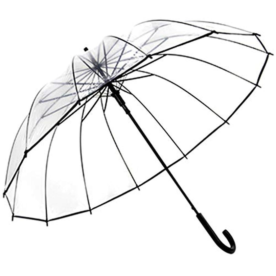 大使館歩くパラシュート傘折りたたみ傘日除けUV傘パラソル (色 : クリア)