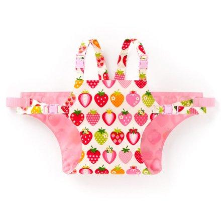 どこでもサポート赤ちゃん安心チェアベルト スイートストロベリーコレクション(スケアー地・アイボリー) B2602500 日本製
