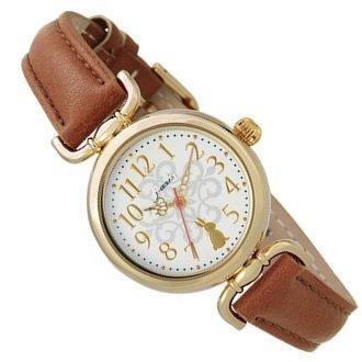 J-AXIS うさぎモチーフ かわいい レディース 腕時計 アニマル アンティーク ウォッチ ブラウン HL194-BR