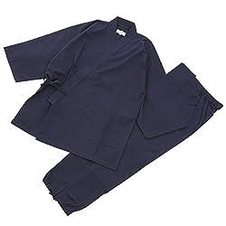 【日本製】 素材からこだわりました 高級 紬織作務衣(つむぎおりさむえ)