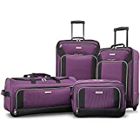 "American Tourister Fieldbrook XLT 4pc Set (Boarding Bag, 21"" Upright, 25"" Upright, Wheeled Duffel)"