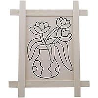 HENGSONG 花模様 ウッドボード ペインティング スケッチパッド DIY グラフィティ 幼稚園 マニュアル 早期教育玩具