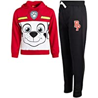 Nickelodeon Paw Patrol Boys 2-Piece Pull Over Fleece Hoodie and Sweatpant Set (Toddler/Little Kid), Marshall, Size 5'