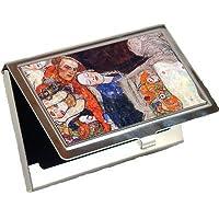 、ベールと花輪で花嫁を飾りby Gustav Klimtビジネスカードホルダー