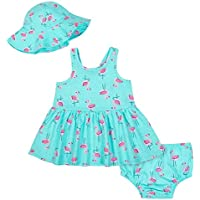 Gerber Baby-Girls 3-Piece Dress Set Sleeveless Casual Dress - Blue