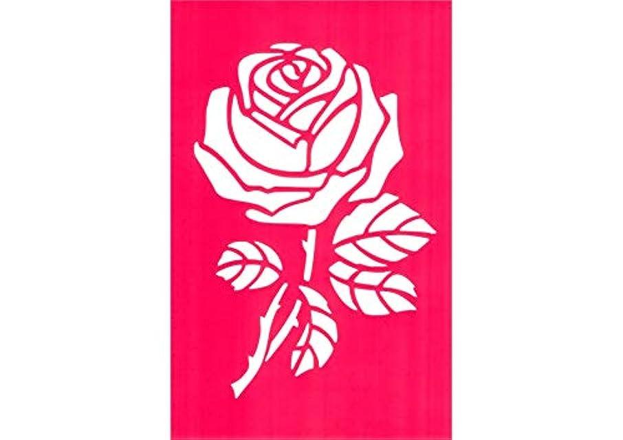 引き金全員レンジステンシルシート バラ 18x28cm 薔薇