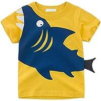 Macondoo Boys' Cute Tee Short Sleeve Cartoon Top T-Shirts